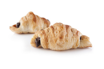 Small chocolate croissants