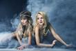 Two women like siren