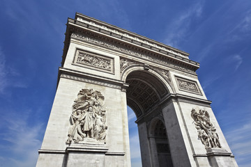 Sculptures on walls of Arce de Triomphe, Paris
