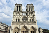The gothic architectural style Notre Dame in Paris