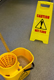 Mopping floor warning sign