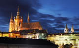 Prague Castle at twilight - Czech republic