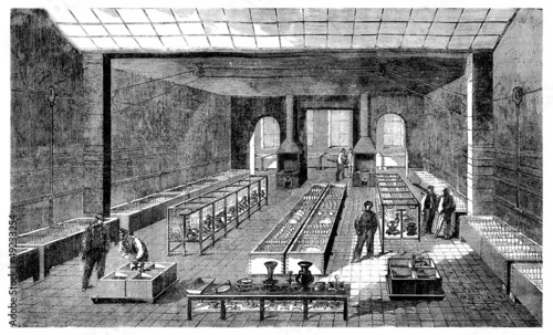 poster of Goldsmith/Silversmith : Factory - 19th century