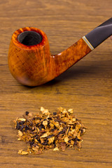 tobacco-pipe in rope,and tobacco
