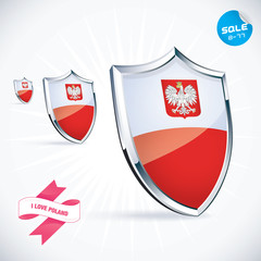 I Love Poland Flag Illustration, Sign, Symbol