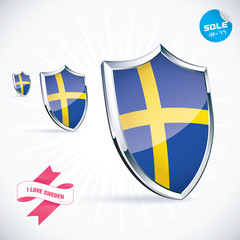 I Love Sweden Flag Illustration, Sign, Symbol