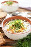 two aromatic vegetable soup poster