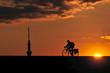 夕日とサイクリング
