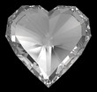 Diamond heart isolated with clipping path 2