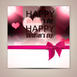 Elegant greeting card with hearts and copy space. Valentine's da