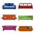 Sofás de diferentes colores y estilos