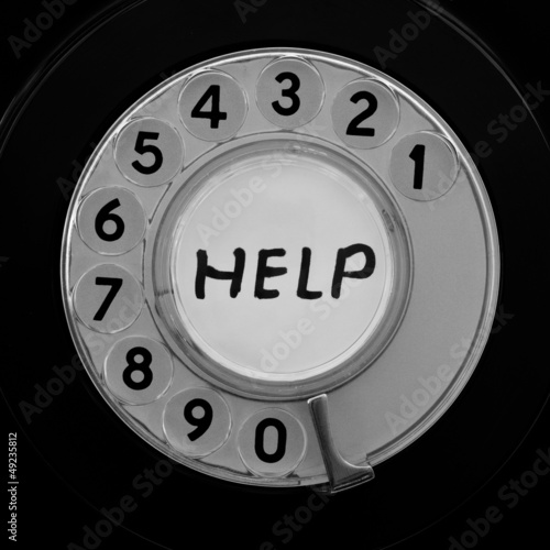 Telephone dial customer service helpline concept