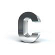 Metal Alphabet Character C