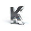 Metal Alphabet Character K