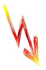 gelb, roter Blitz - Gefahr...