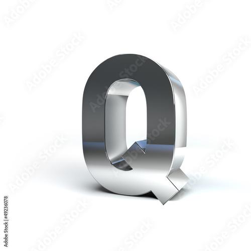 Metal Alphabet Character Q