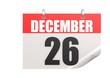 Calendar December 26