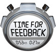 Time for Feedback Words Stopwatch Timer Seeking Comments