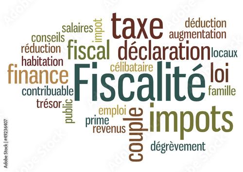 nuage de mots : Fiscalité