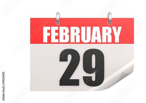 Calendar February 29