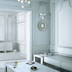 Klassical Salon in neutral white (focused)