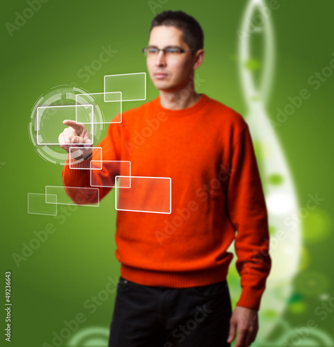 Man with interface