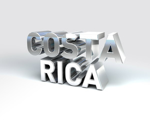 3D Country Text of COSTA RICA