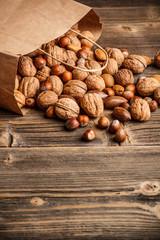 Various nuts mix