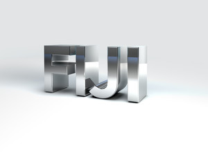 3D Country Text of FIJI