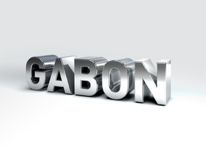 3D Country Text of GABON