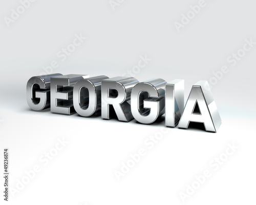 3D Country Text of GEORGIA