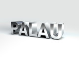 3D Country Text of PALAU