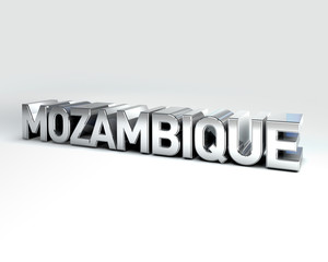 3D Country Text of MOZAMBIQUE