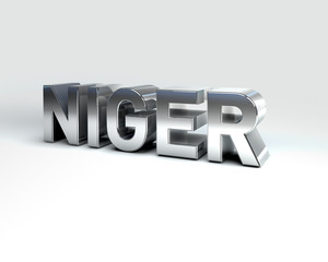 3D Country Text of NIGER