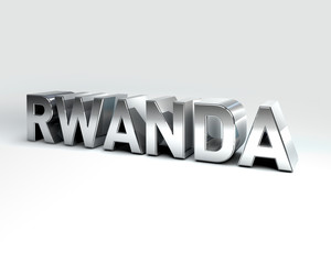 3D Country Text of RWANDA