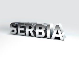 3D Country Text of SERBIA
