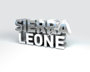 3D Country Text of SIERRA LEONE