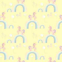 Unicorns rainbows wallpaper