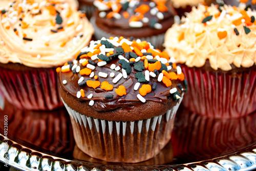 Chocolate Halloween Cupcakes with Festive Sprinkles