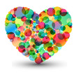 sweet colorful heart, abstract illustration