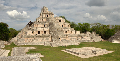 Mayan pyramids Edzna. Yucatan, Campeche,