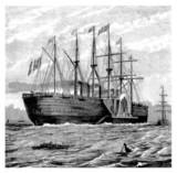 Fototapeta statek - żaglowiec - Inne