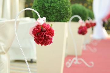 Peony Bouquets on Stands