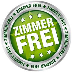 """Button """"Zimmer frei"""" grün/silber"""