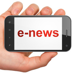 News concept: smartphone with E-news
