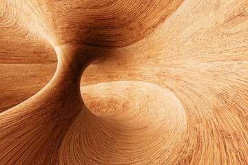 3D Abstract Wood Background © loewe34