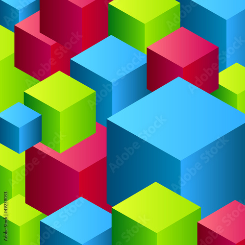 Vector abstract cube background