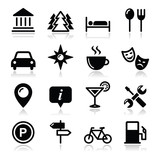 Fototapety Travel tourism icons set - vector