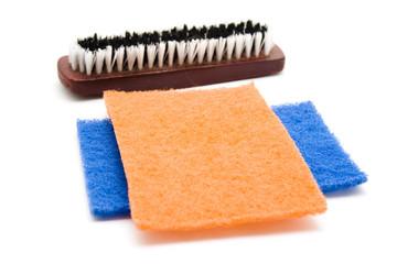 Handbürste mit Schwammtuch