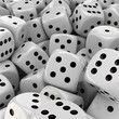 White dice background